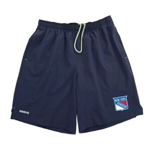 New York Rangers Reebok Center Ice TNT PlayDry Performance Navy Shorts Men's