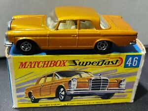 Matchbox Lesney No.46 Mercedes 300 SE WITH BOX Nice Condition
