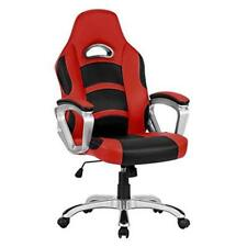 New Reclining Leather Sports Racing Gaming Office Computer Luxury Chair 360° Red