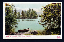 1904 row boat Tea Island Lake from Caldwell Shore Lake George New York postcard