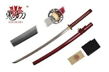 "41"" Damascus Blade Sword Katana with Red Scabbard and Red Wrapped Handle NIB"