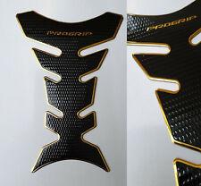 Tank Pad Protection Motorcycle Carbon Look Gold Black Universal Yamaha Suzuki