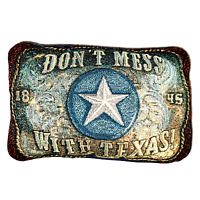 Unbranded Pillow Throw Rectangle Don't Mess With Texas 1845 12.5 X 8.5 639