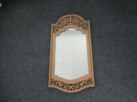Vintage Home Interiors Gold Ornate Wall Mirror Hollywood Regency 28x14