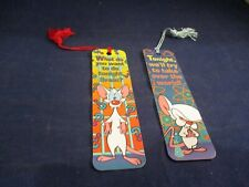 Animaniacs Cartoon Pinky & The Brain 1993 Promotional Bookmark