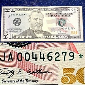 2009$ 50 *STAR NOTE* LOW RUN & LOW PRINTED ONLY 640000 RUN & PRINTED