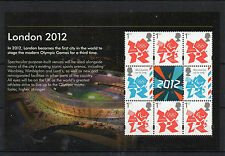 GB 2012 SCARCE OLYMPIC BOOKLET PANE FROM PRESTIGE BOOKLET SG 3337a U/M