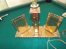 PAIRE DE CADRES PORTE-PHOTO MIROIR et LAMPE BISEAUTE MIRROR GLASS  sj175