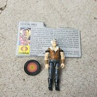 Vintage GI Joe Figure 1987 Crystal Ball complete with file card