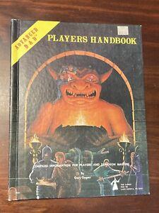 1980 ADVANCED D&D DUNGEONS & DRAGONS PLAYERS HANDBOOK - 6th Printing 1980 - TSR