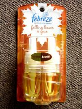 Febreze NOTICEables FALLING LEAVES & SPICE Dual Scented Oil Refill AUTUMN Rare