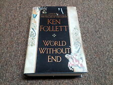 KEN FOLLET hardcover historical England WORLD WITHOUT END 1st printing