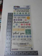 Sticko Phrase Cafe Your Hopes & Dreams Clear Words Stickers Scrapbooking A2448
