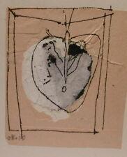 "Dessin Original Slavko KOPAC Kopač (1913-1995) Art Brut ""Coeur"" Croatie SK5"