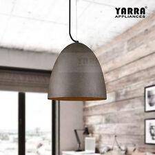 1LT Retro Concrete Pendant Light Ceiling Cement Fixture 2M Cord Black Sandstone