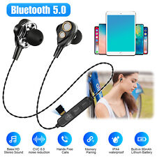 Wireless Bluetooth 5.0 Headset Sport Stereo Headphones Earphone Earbuds With Mic