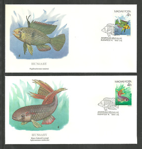 HUNGARY 1987 FISH LYRETAIL & RAMIREZI NATIONAL AUDUBON SOCIETY FLEETWOOD FDC.