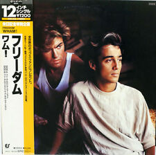 "WHAM ""Freedom"" 1984 Japan 12"" w/ps & lyrics insert GEORGE MICHAEL RIDGLEY"