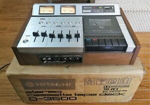 Hitachi D3500 3 head Cassette Deck working see description