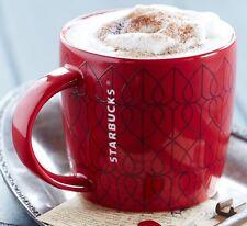NEW Starbucks Valentine's Day Red 14 oz Ceramic Mug NWT