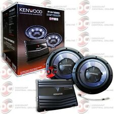 BRAND NEW KENWOOD PACKAGE DEAL CAR AUDIO 2-CHANNEL AMP AMPLIFIER + 2 SUB WOOFER
