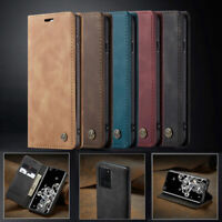 Flip Wallet Leather Stand Case Magnetic Cover Closing For Samsung Galaxy Phone