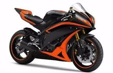 Orange w/ Matte Black Fairing Injection for 2006-2007 Yamaha Yzf R6 R600 YZF-R6
