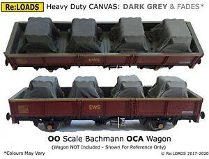 DARK GREY & Fades Tarped Covered Sheeted Road, Railway Loads, HO, OO Scale Gauge