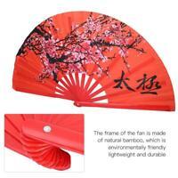Kung Fu Taichi Fan Taiji Kungfu Bambu Wood Folding Fans Tai Chi Chuan Yin Yang