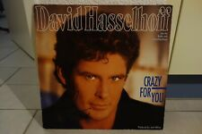 """DAVID HASSELHOFF """"CRAZY FOR YOU"""" LP Vinyl signiert IN PERSON signed RAR"""