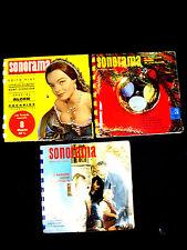 LOT de 3 SONORAMA - MAGAZINE SONORE - 20 disques souples -1958 - 1959 - 1961