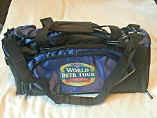 Old Chicago - World Beer Tour Duffel / Gym Bag w/ Shoulder Strap Blue & Black
