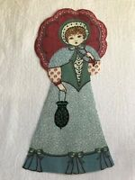"Victorian Courtship Doll - 1 - Iron-On Fabric Appliques.. 6 3/4"" Tall.  (C)"