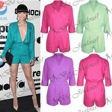 Polyester 3/4 Sleeve Playsuits for Women