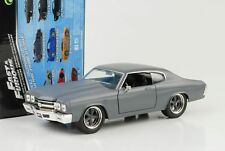 DOM'S CHEVROLET CHEVELLE SS Primer Gris presque AND & FURIOUS 1:24 Jada