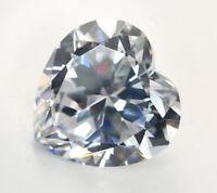 6mm 1.25ct White Sapphire Heart Faceted Cut Shape VVS AAAAA Loose Gemstone