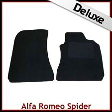 Alfa Romeo Spider 916 1995-2006 Tailored LUXURY 1300g Carpet Mats BLACK
