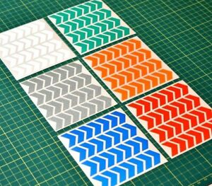 Reflective Chevron Stickers - Night safety - 10 Colours - High Visibility