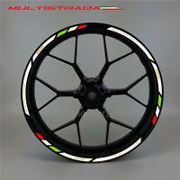 Ducati Multistrada 950 1200 wheel decals stickers rim stripes Reflective White