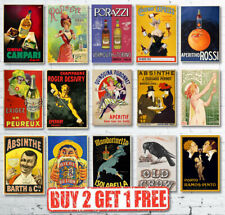 Vintage Retro Drink Alcohol Posters Great For Pubs/Cafes/Bars/Clubs/Restaurants