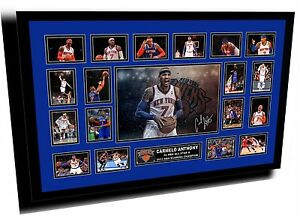 NEW CARMELO ANTHONY NEW YORK KNICKS SIGNED LIMITED EDITION FRAMED MEMORABILIA