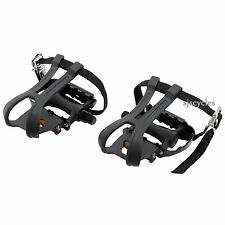 VP 990S METAL CAGED CYCLE PEDALS TOE CLIPS/STRAPS 12553
