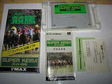Super Keiba Super Famicom SFC SNES Japan import complete in box