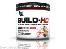 BPI Sports BUILD-HD Creatine Lean Muscle Strength Mass Size Fruit Punch 30 serv