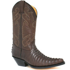 MENS GRINDERS CAROLINA BROWN LEATHER WESTERN TALL COWBOY BOOTS