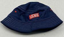 VANS Pro Stitched Bucket Hat, Sz M/L Navy Blue Red White VN0A4Q7SLKZ Vented