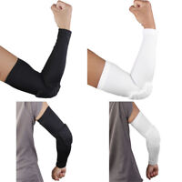Padded Elbow Support Cycling Bike BMX Pads Protector Arm Guards Sport Sleeve