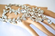 Silver Hand  Harness Slave Bracelet Bridal Wedding Bracelet Indian jewellery