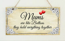 Beautiful Hand Made Plaque Mum Mothers Day Heart Birthday Sign Present