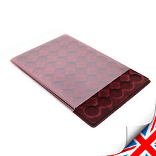 ( ProSCHULZ ) Red COIN TRAY - for £2, 50p, - 40 Compartments ø 32mm (PO-40)